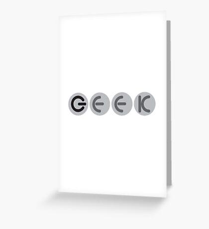Geek power buttons Greeting Card