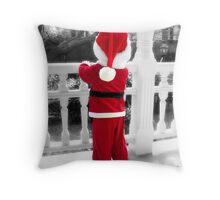Waiting for Santa Throw Pillow