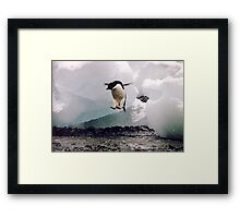 The secret launch. Framed Print