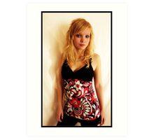 Sanna in pink Art Print