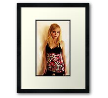 Sanna in pink Framed Print