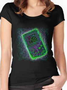 neon punk gameboy Women's Fitted Scoop T-Shirt