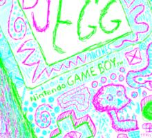 neon punk gameboy Sticker