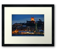 NEWCASTLE AT NIGHT. Framed Print