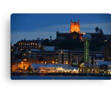 NEWCASTLE AT NIGHT. Canvas Print