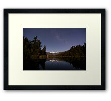 lake matheson by night Framed Print