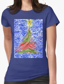 Oh Christmas Tree Womens Fitted T-Shirt