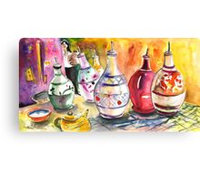 Oil Dispensers From Taormina Canvas Print