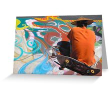 Abstract Skateboarding Greeting Card