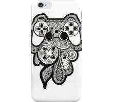 Games Console Zentangle BLACK & WHITE iPhone Case/Skin