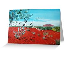 From a Distance, Uluru Australia Greeting Card