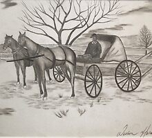 Quaker Horse and Carriage by Weshon  Hornsby