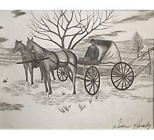 Quaker Horse and Carriage Photographic Print
