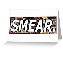 Jean Michel Basquiat Smear Sticker Greeting Card