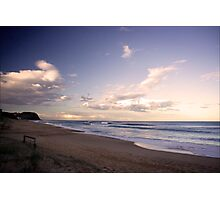 Twilight surf at Bar Beach Photographic Print