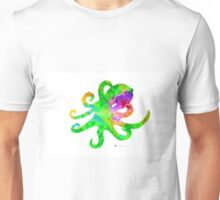 Octopus silhouette art print watercolor painting, abstract home decor Unisex T-Shirt