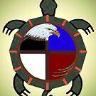 Eagle on Turtles Back by Moninne Hardie
