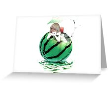 Watermelon girl Greeting Card