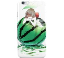 Watermelon girl iPhone Case/Skin