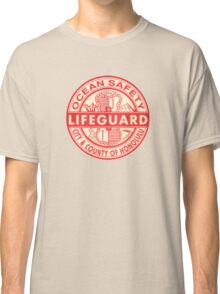 Hawaii Lifeguard Logo Classic T-Shirt