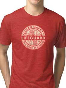 Hawaii Lifeguard Logo Tri-blend T-Shirt