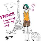 A girl visits France by skycn520