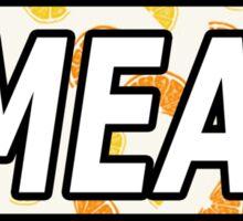 Oranges Smear Sticker Sticker