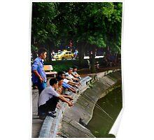 The Park Fishermen - Hanoi, Vietnam. Poster
