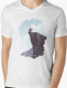 SUNRISE - Monster Yell Mens V-Neck T-Shirt