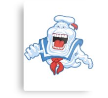 Funny Ghostbusters Slimer Stay Puft Marshmallow Man Mash Up Metal Print