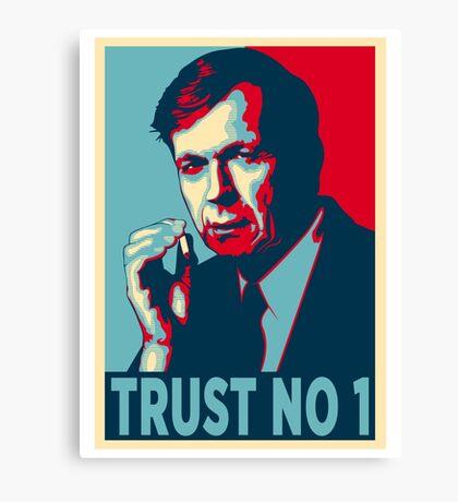CIGARETTE SMOKING MAN TRUST NO 1 Canvas Print