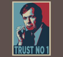 CIGARETTE SMOKING MAN TRUST NO 1 by Théo Proupain