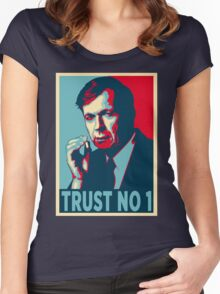 CIGARETTE SMOKING MAN TRUST NO 1 Women's Fitted Scoop T-Shirt