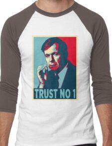 CIGARETTE SMOKING MAN TRUST NO 1 Men's Baseball ¾ T-Shirt