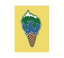 Melting earth Art Print