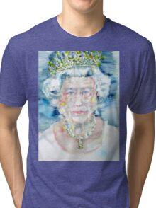 ELIZABETH II - watercolor portrait Tri-blend T-Shirt