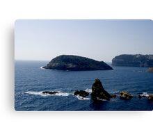 Cap Prim a view of the Med (Javea Spain 2007) Canvas Print