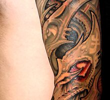 biomech sleeve-Tattoo by Derek Mullins