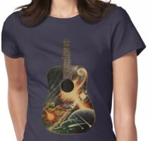SPACE GUITAR Womens Fitted T-Shirt