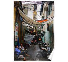 The Dark Alley - Hanoi, Vietnam. Poster