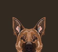 Skylar - German Shepherd gift ideas for dog person and dog people gifts by PetFriendly