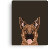 Skylar - German Shepherd gift ideas for dog person and dog people gifts Canvas Print
