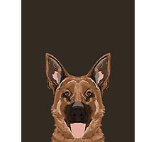 Skylar - German Shepherd gift ideas for dog person and dog people gifts Photographic Print