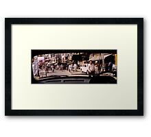 A town in India Framed Print