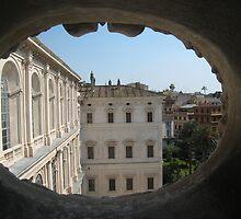 Through the Attic window by Arzu