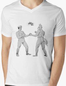 Old Timey Smash Bros Mens V-Neck T-Shirt