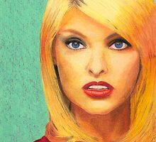"""LINDA"" (Linda Evangelista , Canadian Supermodel) by lazart"