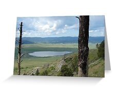 Overlooking the valley. Greeting Card