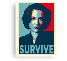 DANA SCULLY SURVIVE Canvas Print