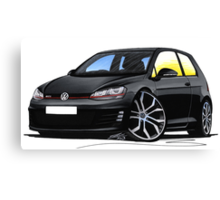 VW Golf (Mk7) GTi Black Canvas Print